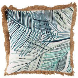 Red Pineapple Leaf Stitch Fringe Decorative Pillow