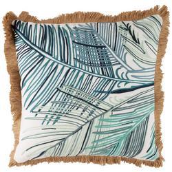 Leaf Stitch Fringe Decorative Pillow