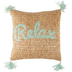 Relax Raffia Decorative Pillow