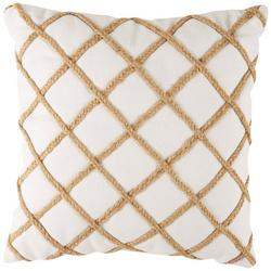 Rope Diamond Trim Decorative Pillow