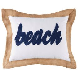 Red Pineapple Beach Burlap Flange Decorative Pillow