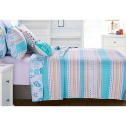 Greenland Home Fashions Pacifica Quilt Set