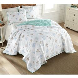 Coastal Home Coral Scatter Quilt Set