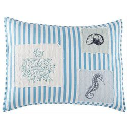Beach Haven Sealife Seersucker Pillow Sham