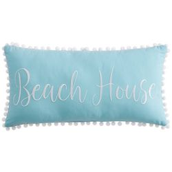 Beach Haven Beach House Embroidered Decorative Pillow