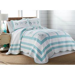 Beach Haven Julian Shell Patchwork Bedspread