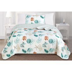 Home Fashions Distributors Key West Quilt Set