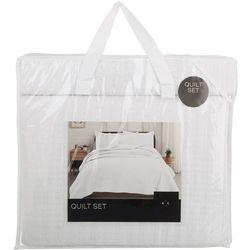 Home Fashion Alicia Basketweave Quilt Set