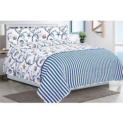 Tropic Winds Sea Shell Quilt Set