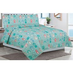 Tropic Winds Beach Town Quilt Set