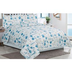 Tropic Winds Coastal Toss Quilt Set