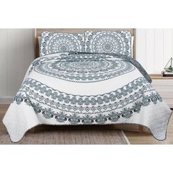 Beatrice Nocturne Medallion Quilt Set