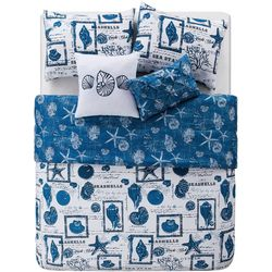 VCNY Home By The Sea Reversible Quilt Set