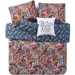 VCNY Home In Breeze Paisley Reversible Quilt Set