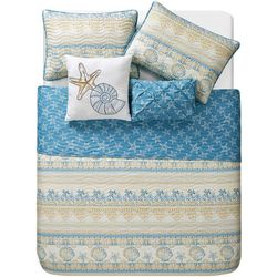 VCNY Home In Coastal Horizon Reversible Quilt Set