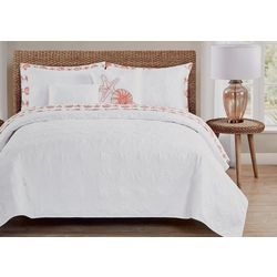 Seaside Collection Shell Stitch Quilt Set