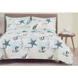 Seaside Collection Shorelife Quilt Set