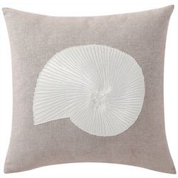 Conch Embroidered Decorative Pillow