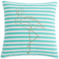VCNY Home Flamingo Stripe Decoraitve Pillow