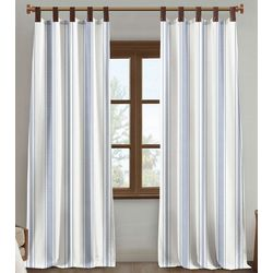 Silk Home 2-pk. Milford Faux Leather Tab Curtain Panel Set