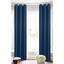 CHD Home Textiles 2-pk. Woven Black Out Curtain Panel Set
