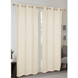 CHD Home Textiles 2-pk. Brenna Black Out Curtain Panel Set