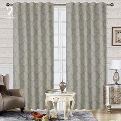 CHD Home Textiles 2-pk. Hanford Curtain Panel Set
