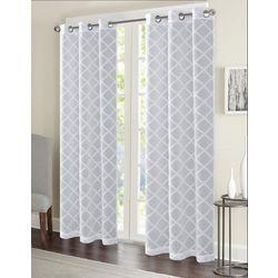 CHD Home Textiles 2-pk. Lily Diamond Curtain Panel Set