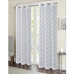 2-pk. Lily Diamond Curtain Panel Set