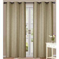 Remy Faux Linen Window Panel Set