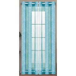 Caribbean Joe 2-pc. Le Mer Sheer Curtain Panel