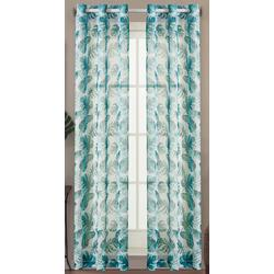 2-pc. Watercolor Palm Sheer Curtain Panel Set