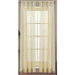 Caribbean Joe 2-pc. Coastal Sheer Curtain Panel Set