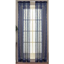 Caribbean Joe 2-pc. Anchors Sheer Curtain Panel Set