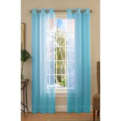 Caribbean Joe 2-pc. Sea Breeze Sheer Curtain Panel Set