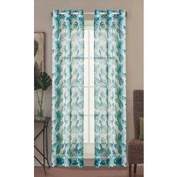 Caribbean Joe 2-pc. Watercolor Palm Leaf Curtain Panel