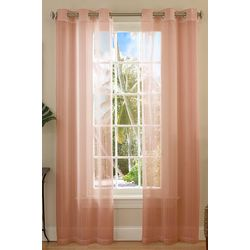 Caribbean Joe 2-pk. Sea Breeze Sheer Curtain Panels