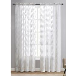 VCNY Home 2-pc. Louise Sheer Curtain Panel Set
