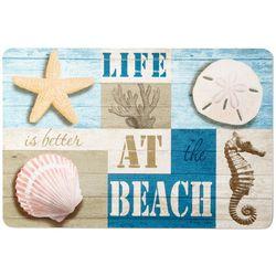 Life At The Beach Kitchen Mat
