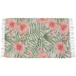 Racquel Floral Leaf Accent Rug