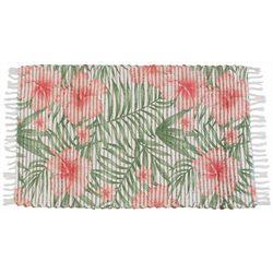 Thro Racquel Floral Leaf Accent Rug
