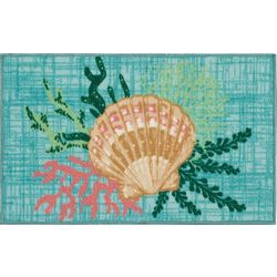 Sea Shell & Coral Accent Rug