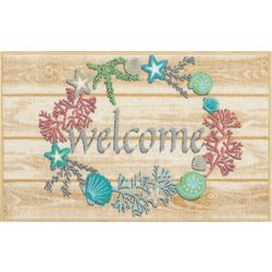 Welcome Wreath Accent Rug