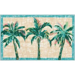 Three Palm Trees Accent Rug