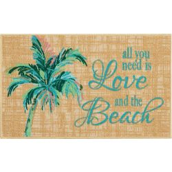 Love and the Beach Accent Rug