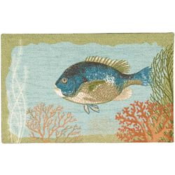 Nourison Fish With Coral Accent Rug
