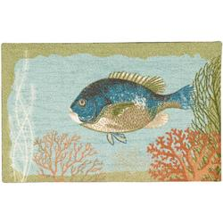 Fish With Coral Accent Rug
