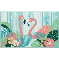 Essential Elements Flamingo Wood Plank Accent Rug