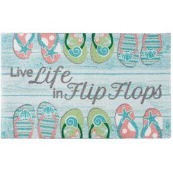 Enhance Live Life In Flip Flops Accent Rug