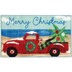 Merry Christmas Truck Accent Rug